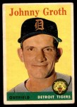 1958 Topps #262  Johnny Groth  Front Thumbnail