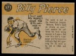1960 Topps #571   -  Bill Pierce All-Star Back Thumbnail
