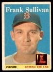1958 Topps #18  Frank Sullivan  Front Thumbnail