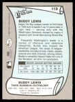 1989 Pacific Legends #119  Buddy Lewis  Back Thumbnail