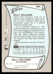 1989 Pacific Legends #184  Billy Williams  Back Thumbnail
