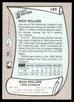 1989 Pacific Legends #169  Rich Rollins  Back Thumbnail