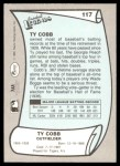 1989 Pacific Legends #117  Ty Cobb  Back Thumbnail