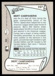 1989 Pacific Legends #157  Bert Campaneris  Back Thumbnail