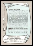 1989 Pacific Legends #190  Harry Walker  Back Thumbnail