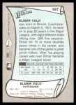 1989 Pacific Legends #187  Elmer Valo  Back Thumbnail
