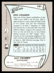 1989 Pacific Legends #181  Roger Cramer  Back Thumbnail