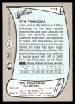 1989 Pacific Legends #133  Tito Francona  Back Thumbnail