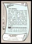 1989 Pacific Legends #125  Joe Sewell  Back Thumbnail