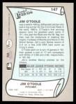 1989 Pacific Legends #147  Jim O'Toole  Back Thumbnail