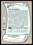 1989 Pacific Legends #155  Sam McDowell  Back Thumbnail