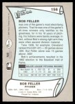 1989 Pacific Legends #156  Bob Feller  Back Thumbnail