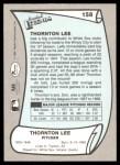 1989 Pacific Legends #158  Thornton Lee  Back Thumbnail