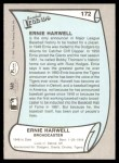 1989 Pacific Legends #172  Ernie Harwell  Back Thumbnail