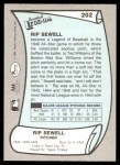 1989 Pacific Legends #202  Rip Sewell  Back Thumbnail
