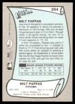 1989 Pacific Legends #204  Milt Pappas  Back Thumbnail