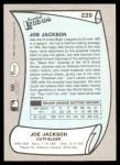 1989 Pacific Legends #220  Shoeless Joe Jackson  Back Thumbnail