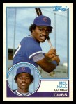 1983 Topps Traded #39 T Mel Hall  Front Thumbnail