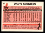 1983 Topps Traded #99 T Daryl Sconiers  Back Thumbnail
