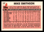 1983 Topps Traded #106 T Mike Smithson  Back Thumbnail