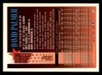 1994 Topps #51  David Palmer  Back Thumbnail