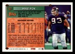 1994 Topps #57  Mike Fox  Back Thumbnail