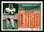 1994 Topps #101  Ronnie Lott  Back Thumbnail