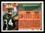 1994 Topps #144  Edgar Bennett  Back Thumbnail