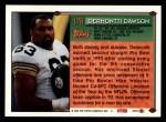 1994 Topps #178  Dermontti Dawson  Back Thumbnail