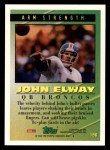 1994 Topps #196   -  John Elway Tools of the Game Back Thumbnail