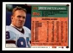 1994 Topps #209  Pete Metzelaars  Back Thumbnail