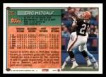 1994 Topps #251  Eric Metcalf  Back Thumbnail