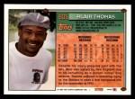 1994 Topps #605  Blair Thomas  Back Thumbnail