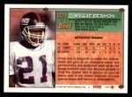 1994 Topps #629  Willie Beamon  Back Thumbnail