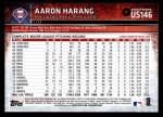 2015 Topps Update #146  Aaron Harang  Back Thumbnail