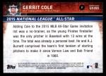 2015 Topps Update #355  Gerrit Cole  Back Thumbnail
