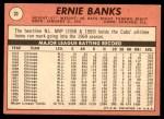 1969 Topps #20  Ernie Banks  Back Thumbnail