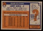 1976 Topps #172  Larry Seiple  Back Thumbnail