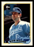 1989 Topps Traded #12 T Bob Boone  Front Thumbnail