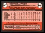1989 Topps Traded #14 T Jeff Brantley  Back Thumbnail
