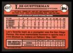 1989 Topps Traded #43 T Lee Guetterman  Back Thumbnail