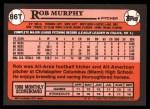 1989 Topps Traded #86 T Rob Murphy  Back Thumbnail