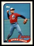 1989 Topps Traded #92 T Spike Owen  Front Thumbnail