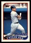 1989 Topps Traded #111 T Steve Sax  Front Thumbnail
