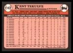 1989 Topps Traded #116 T Ken Tekulve  Back Thumbnail