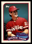 1989 Topps Traded #119 T Dickie Thon  Front Thumbnail