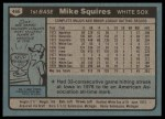 1980 Topps #466  Mike Squires  Back Thumbnail
