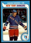 1979 Topps #240  Anders Hedberg  Front Thumbnail