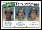 1980 Topps #671   -  Mike Morgan / Brian Kingman / Derek Bryant  A's  Rookies Front Thumbnail