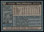 1980 Topps #376  Gary Allenson   Back Thumbnail